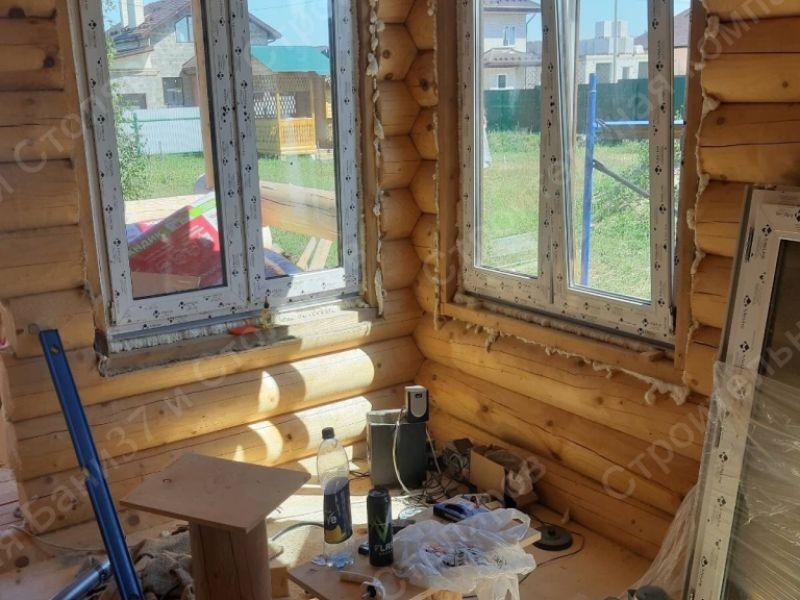 Баня-дом из оцилиндрованного бревна, монтаж систем сантехники и вентиляции