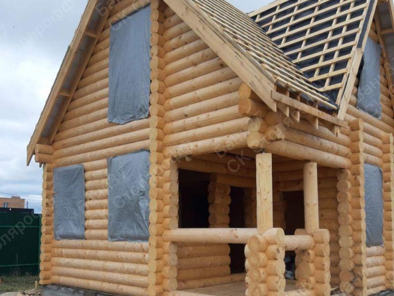 Баня-дом в пос. Солнечный. Монтаж крыши