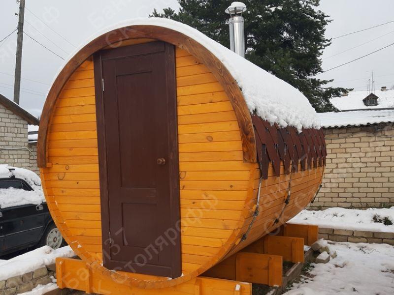 Баня-бочка длина 4 метра 2,30 диаметр, деревня Шилово